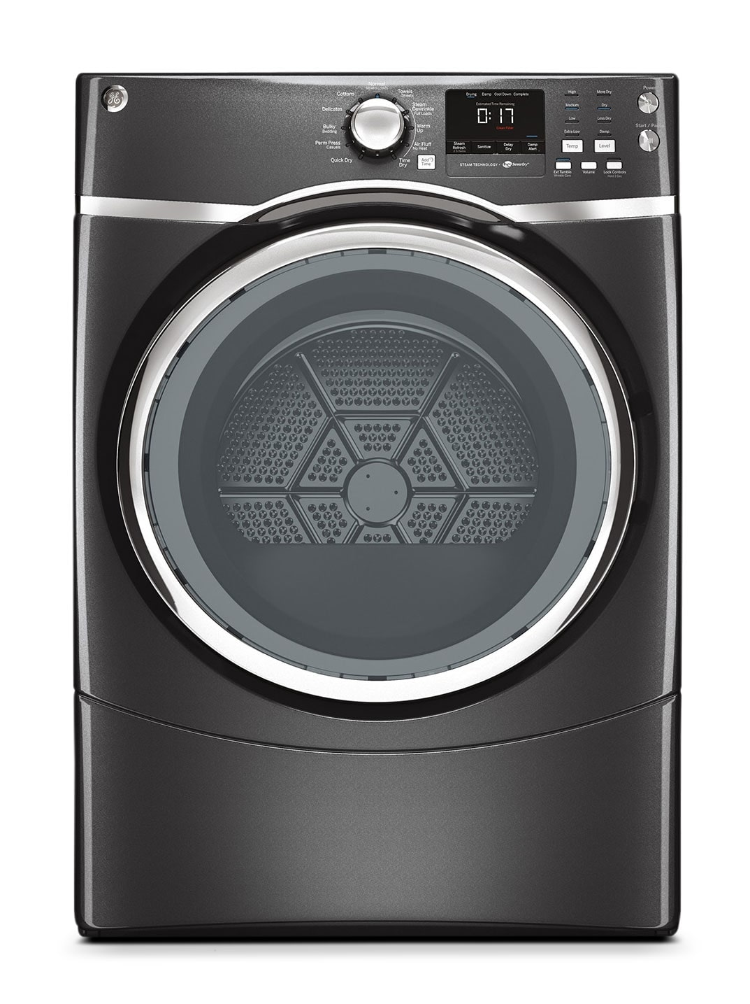 Washers and Dryers - GE Diamond Grey Electric Dryer (7.5 Cu. Ft.) - GFMS175EHDG