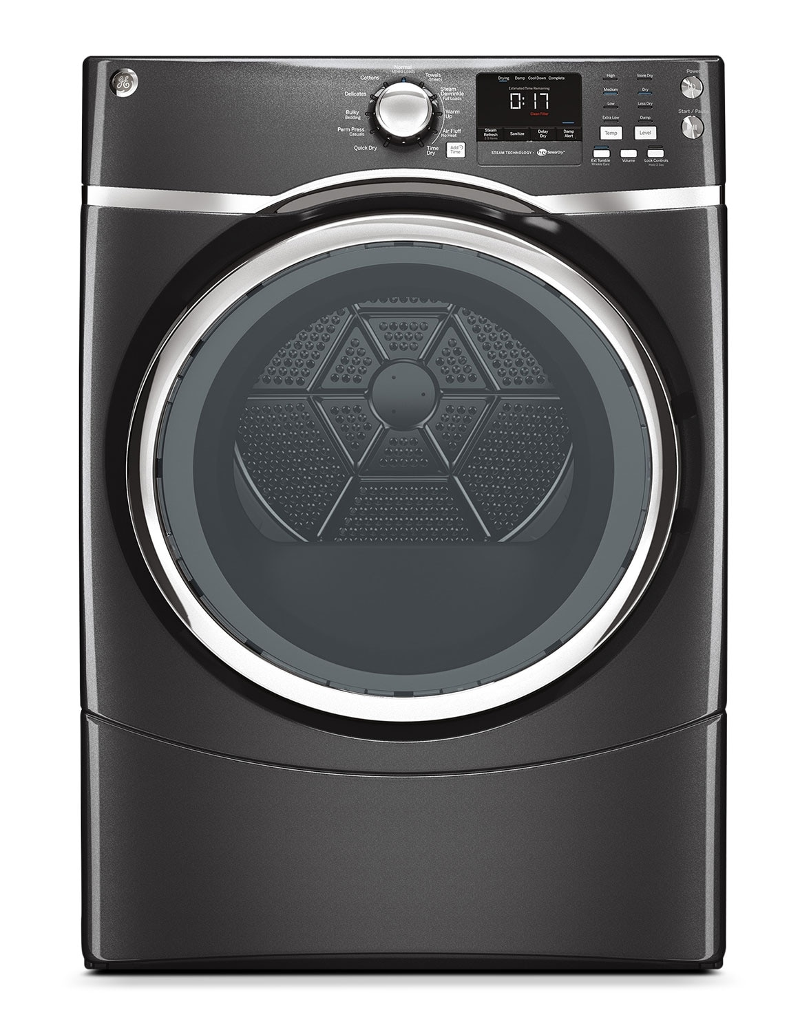 Washers and Dryers - GE Diamond Grey Gas Dryer (7.5 Cu. Ft.) - GFMS175GHDG