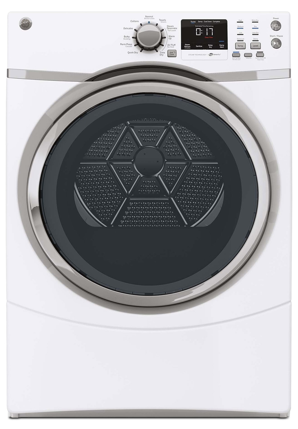 Washers and Dryers - GE White Gas Dryer (7.5 Cu. Ft.) - GFMS170GHWW