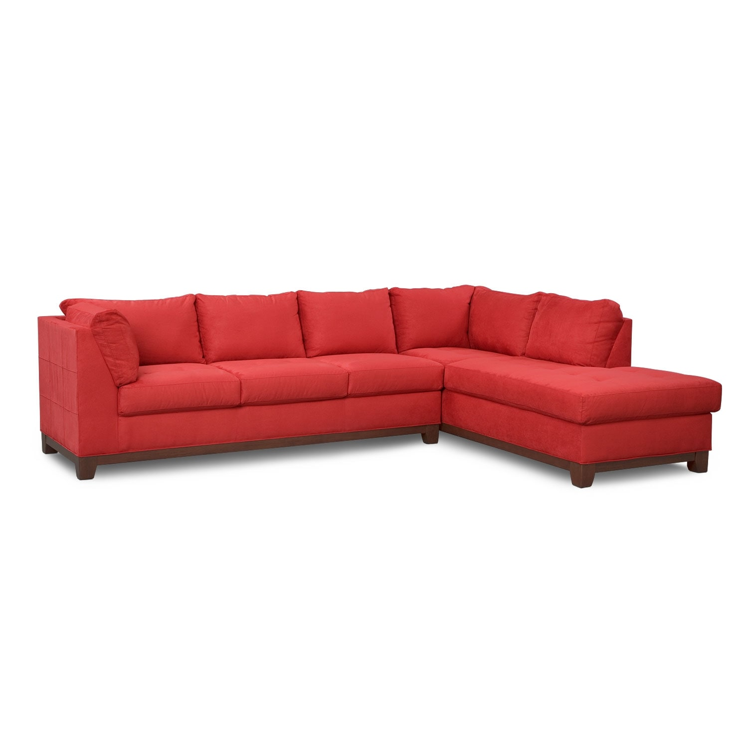 Soho 2 piece sectional with right facing chaise red for 2 piece sectional sofa with chaise