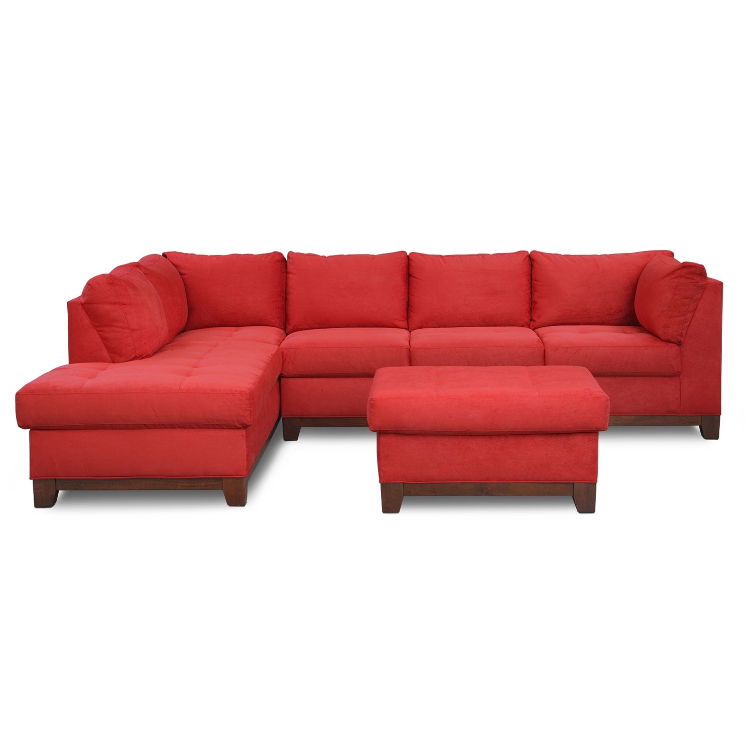 Soho 2 piece sectional with left facing chaise and ottoman for 2 piece sectional with chaise