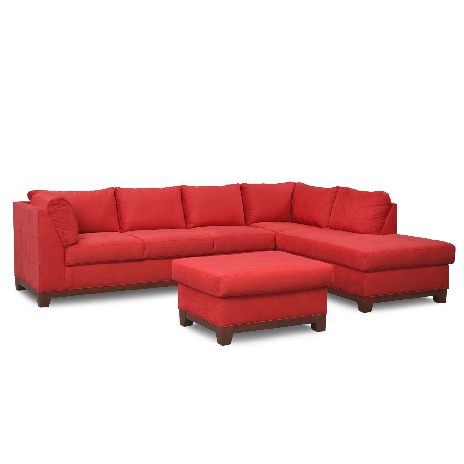 The soho sectional collection red american signature for American signature furniture commercial chaise