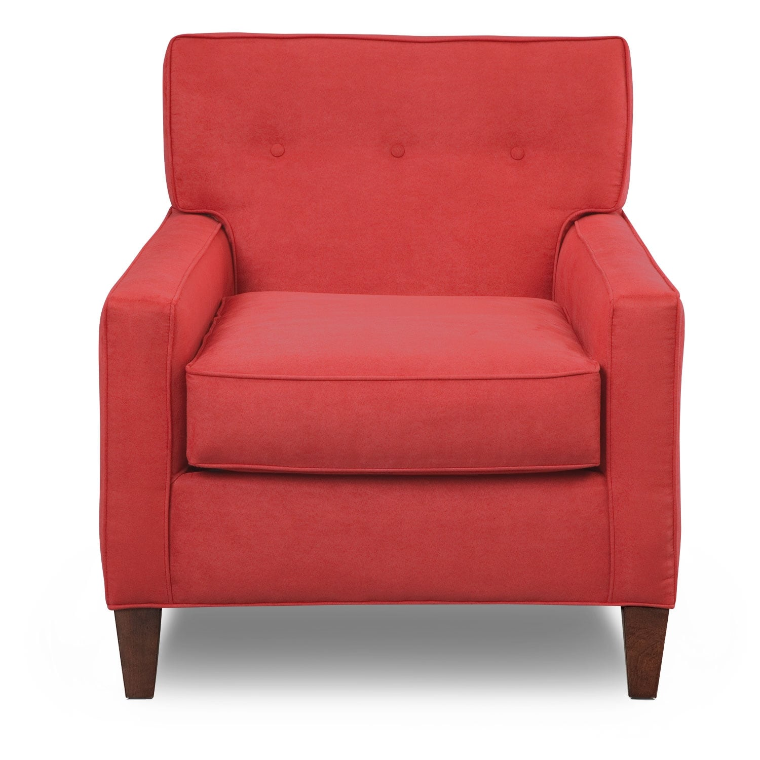 Living Room Furniture-Hudson Red Accent Chair