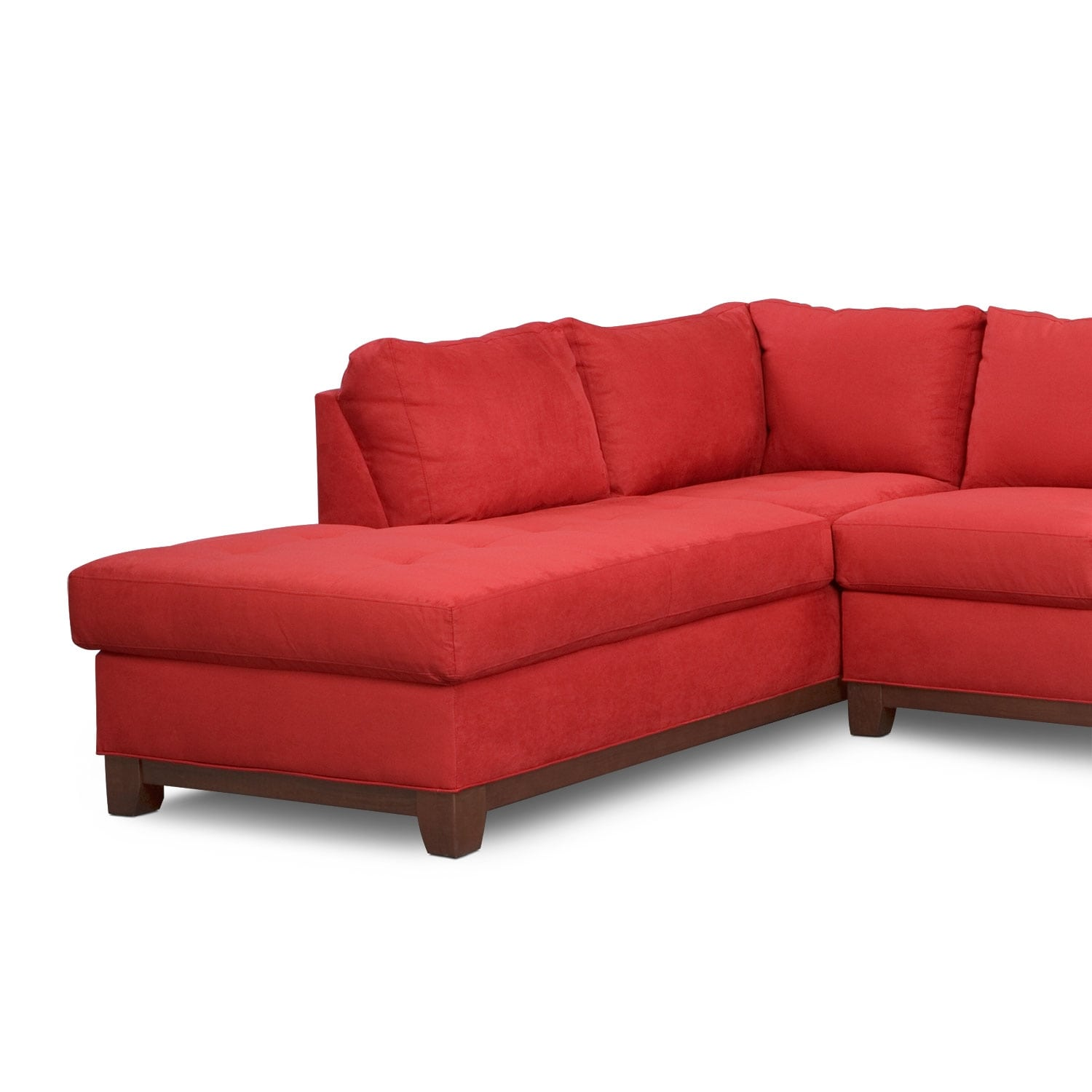 soho 2 piece sectional with left facing chaise red. Black Bedroom Furniture Sets. Home Design Ideas