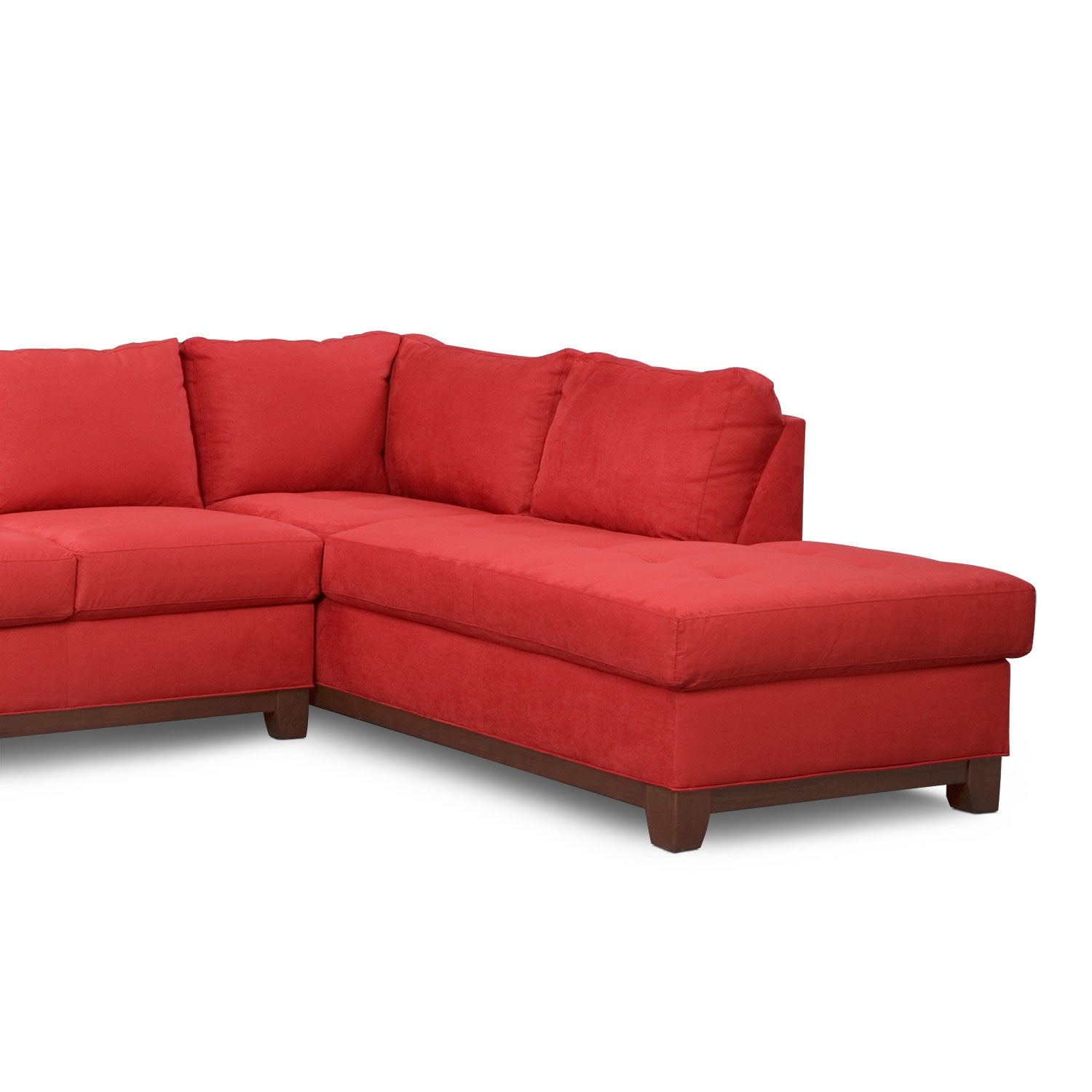 Soho 2 piece sectional with right facing chaise red for Red sectional sofa value city