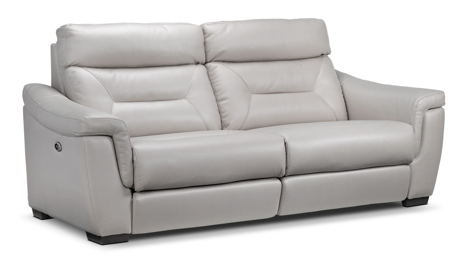 Living Room Furniture - Ralston Power Reclining Sofa - Silver-Grey