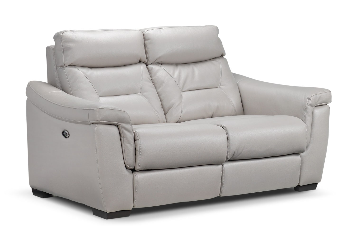Ralston Power Reclining Loveseat - Silver-Grey