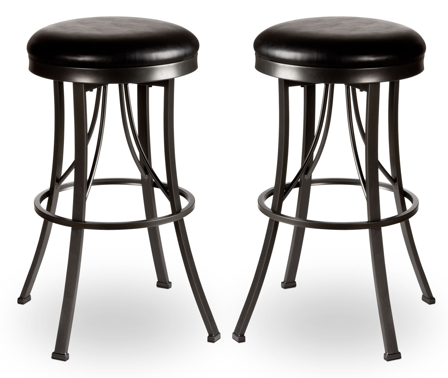 Ontario Backless Swivel Barstool Set Of 2 The Brick