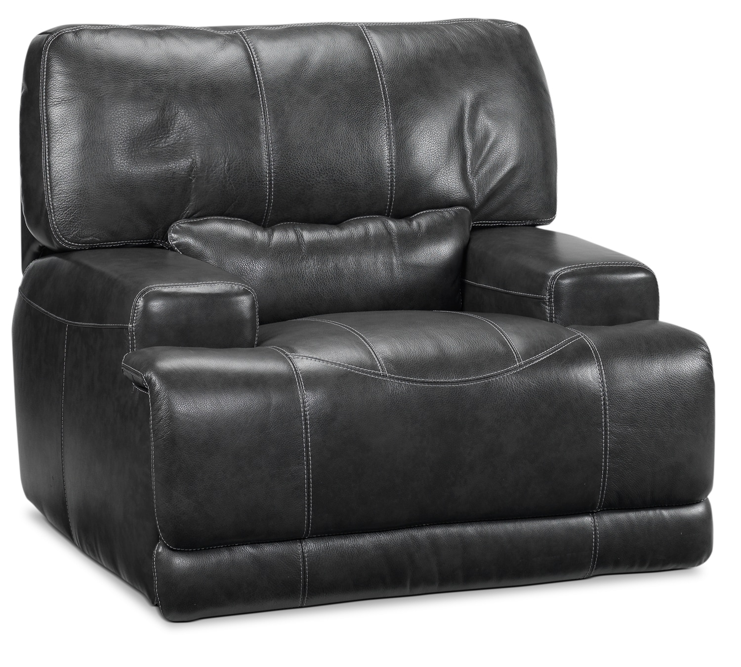Living Room Furniture - Dearborn Power Recliner - Charcoal