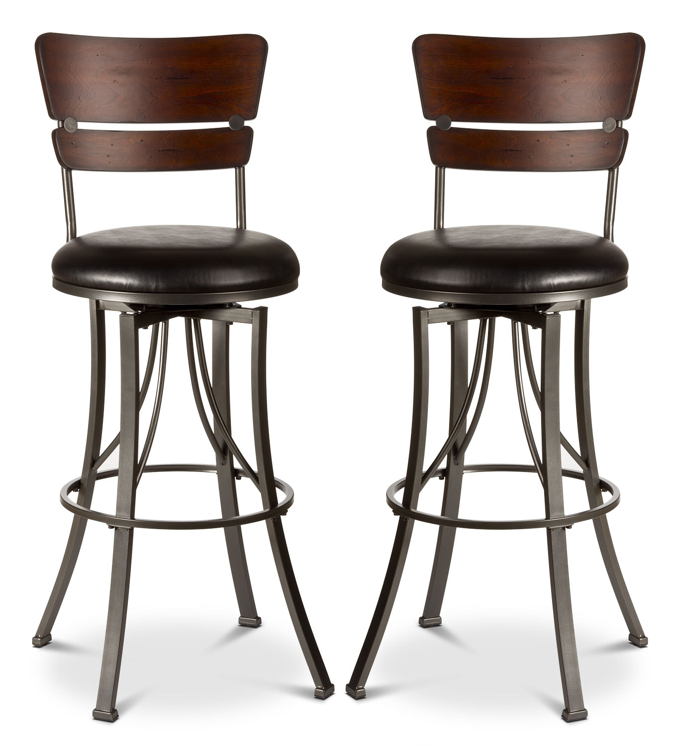 santa monica counter height swivel stool set of 2 the brick. Black Bedroom Furniture Sets. Home Design Ideas