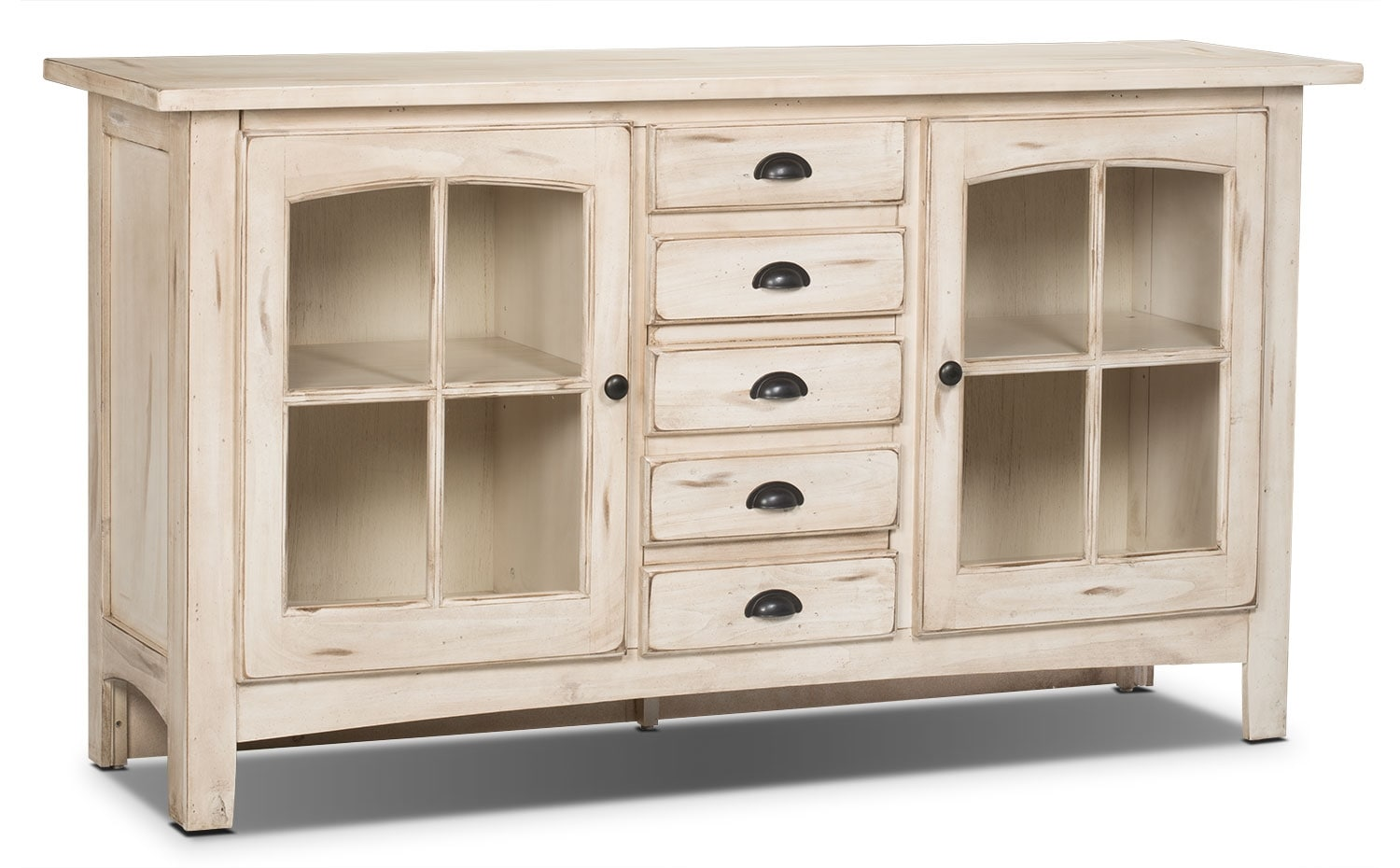 "Entertainment Furniture - Xico 64"" TV Stand – Antique White"