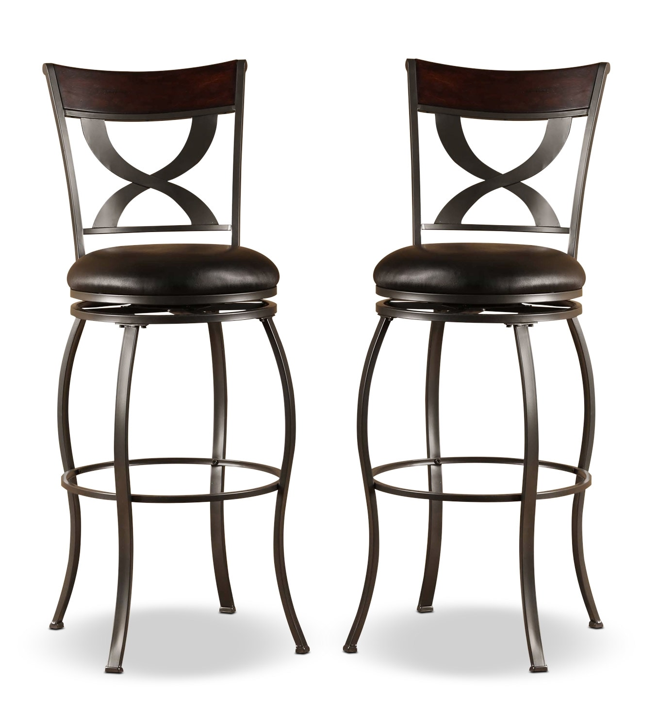 Dining Room Furniture - Stockport Counter-Height Swivel Stool – Set of 2