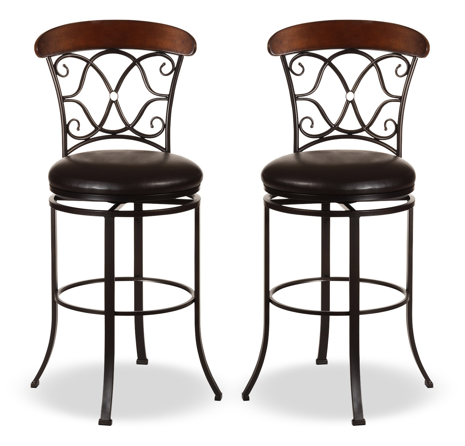 Dining Room Furniture - Dundee Counter-Height Swivel Stool – Set of 2