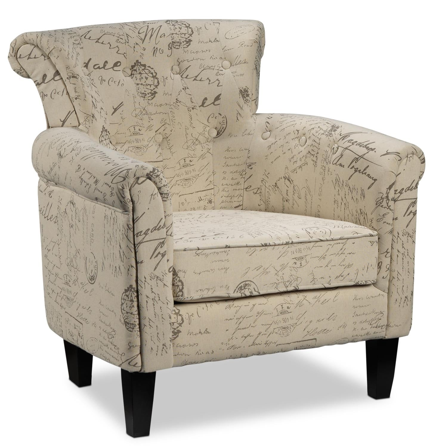 Moniker accent chair leon 39 s for Occasional furniture