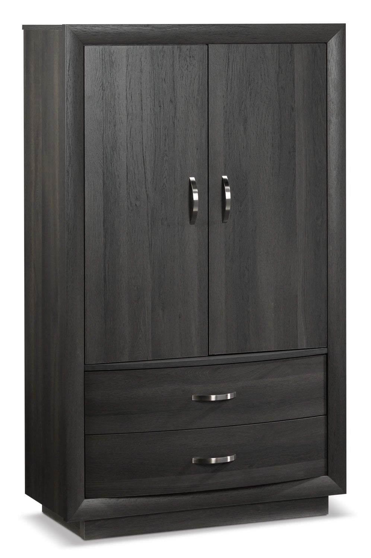 Bedroom Furniture - Gerard Armoire - Deep Grey