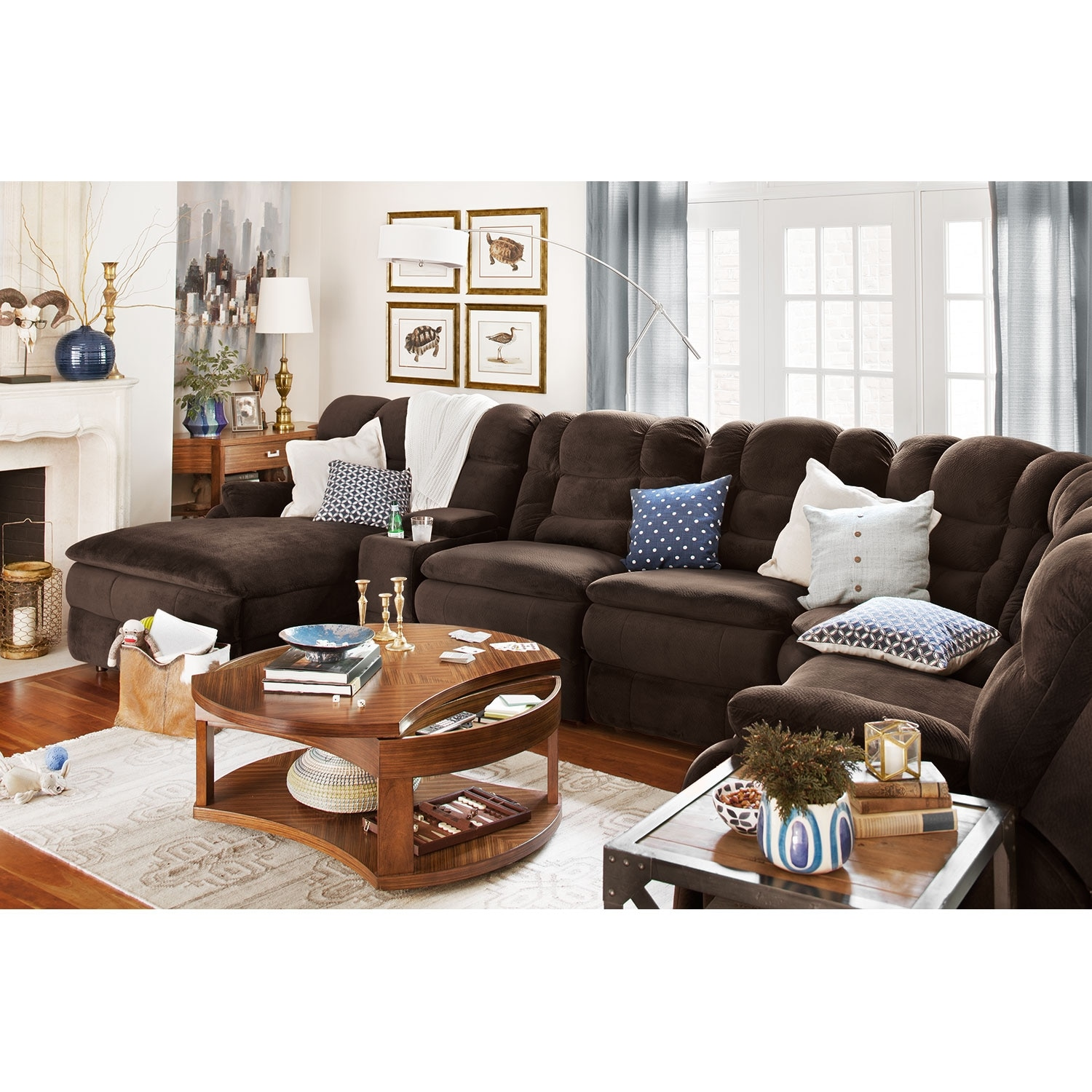 Big Softie 6 Pc Power Reclining Sectional Reverse