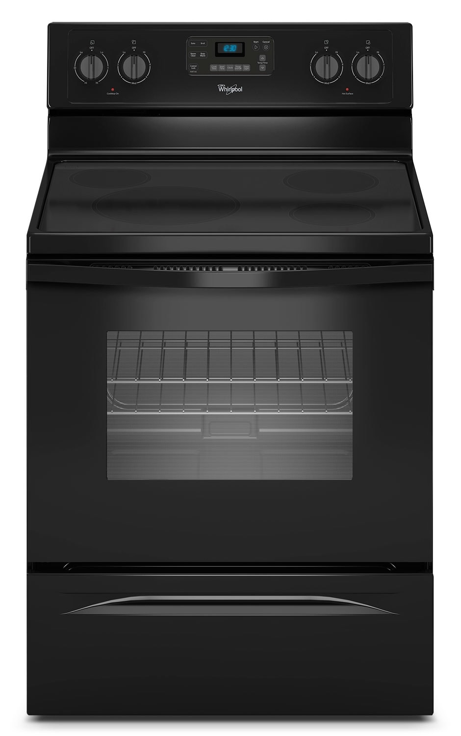Cooking Products - Whirlpool® 4.8 Cu. Ft. Capacity Freestanding Electric Range - Black