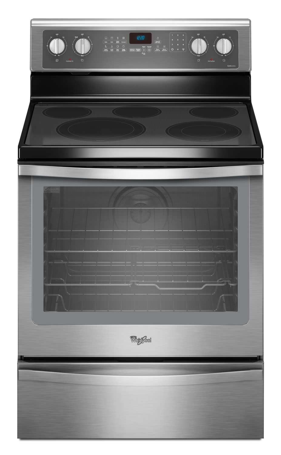 Cooking Products - Whirlpool Stainless Steel Freestanding Electric Convection Range (6.4 Cu. Ft.) - YWFE715H0ES