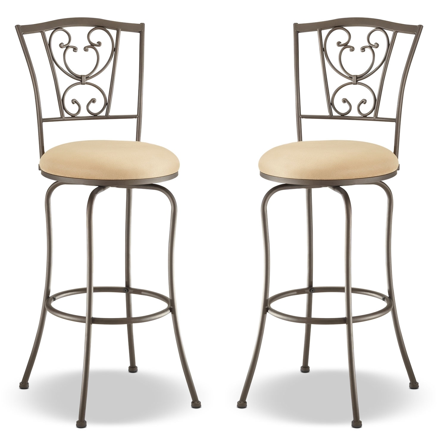 Concord Counter-Height Swivel Stool – Set of 2