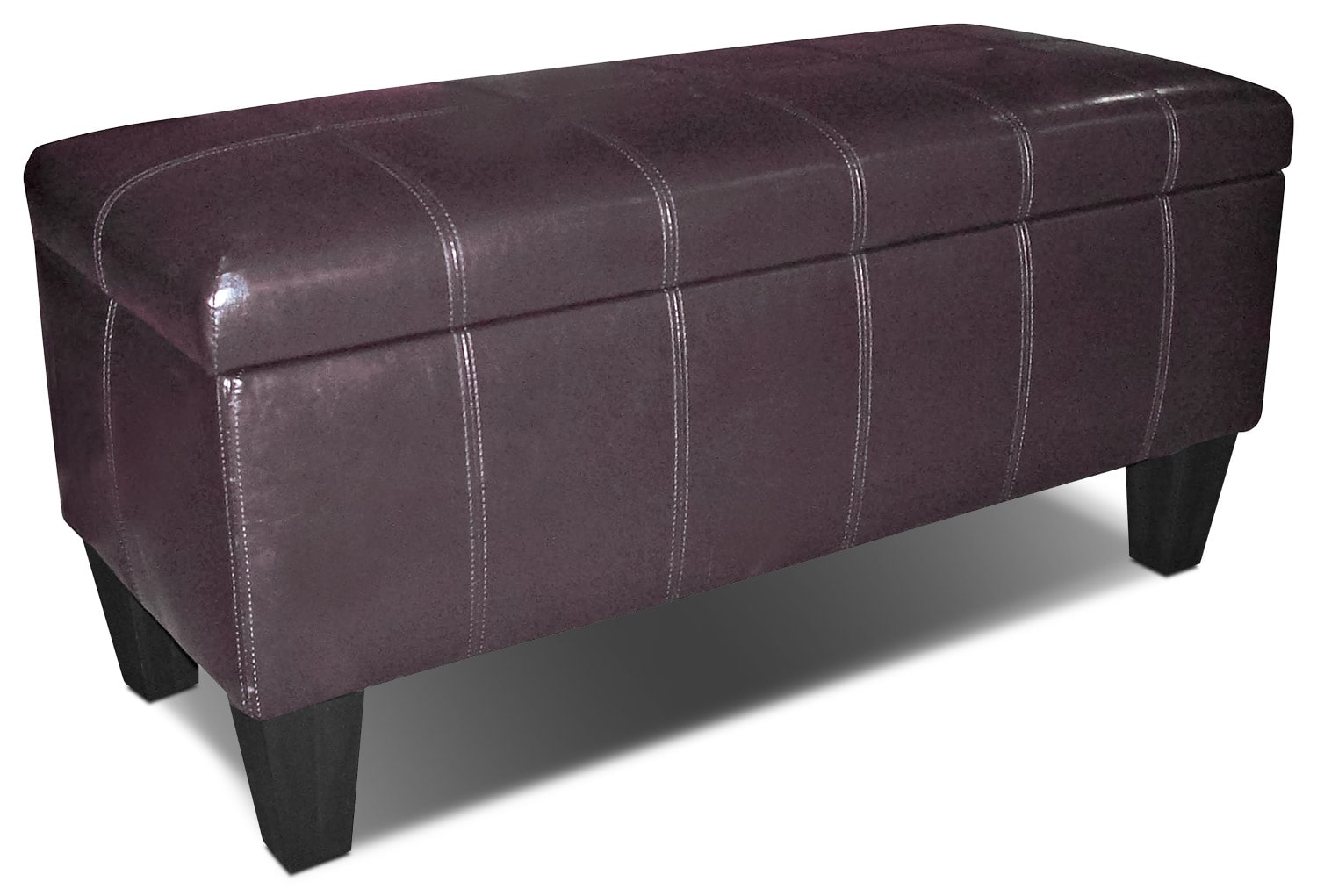 Living Room Furniture - Jackson Storage Ottoman - Brown