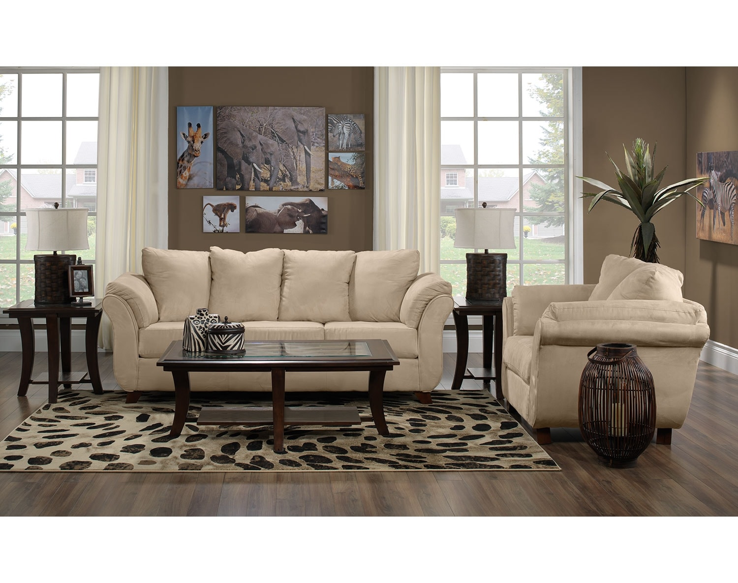 The collier collection beige leon 39 s for Leon divan sectionnel