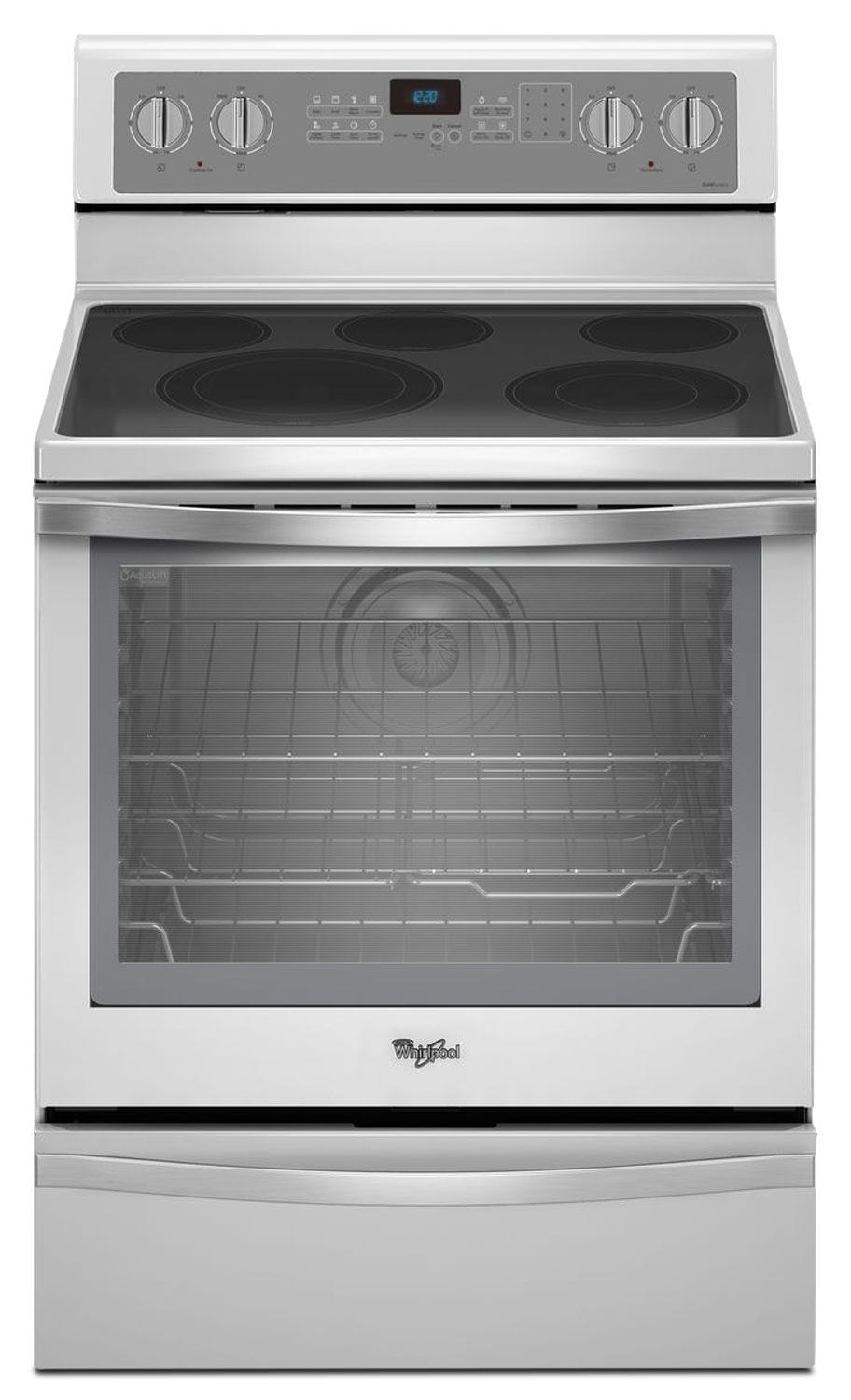 [Whirlpool Stainless Steel Freestanding Electric Convection Range (6.4 Cu. Ft.) - YWFE715H0EH]