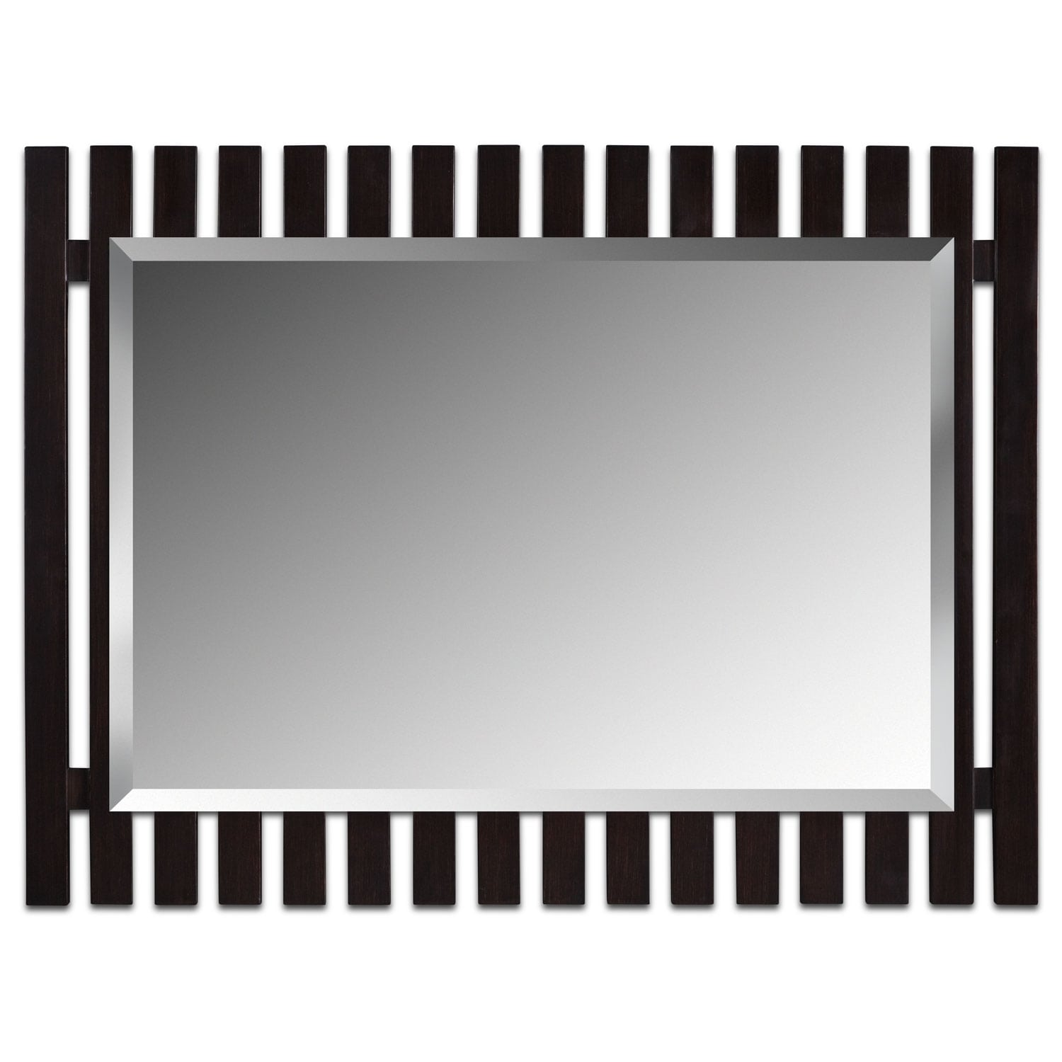 [Brown Fence Mirror]