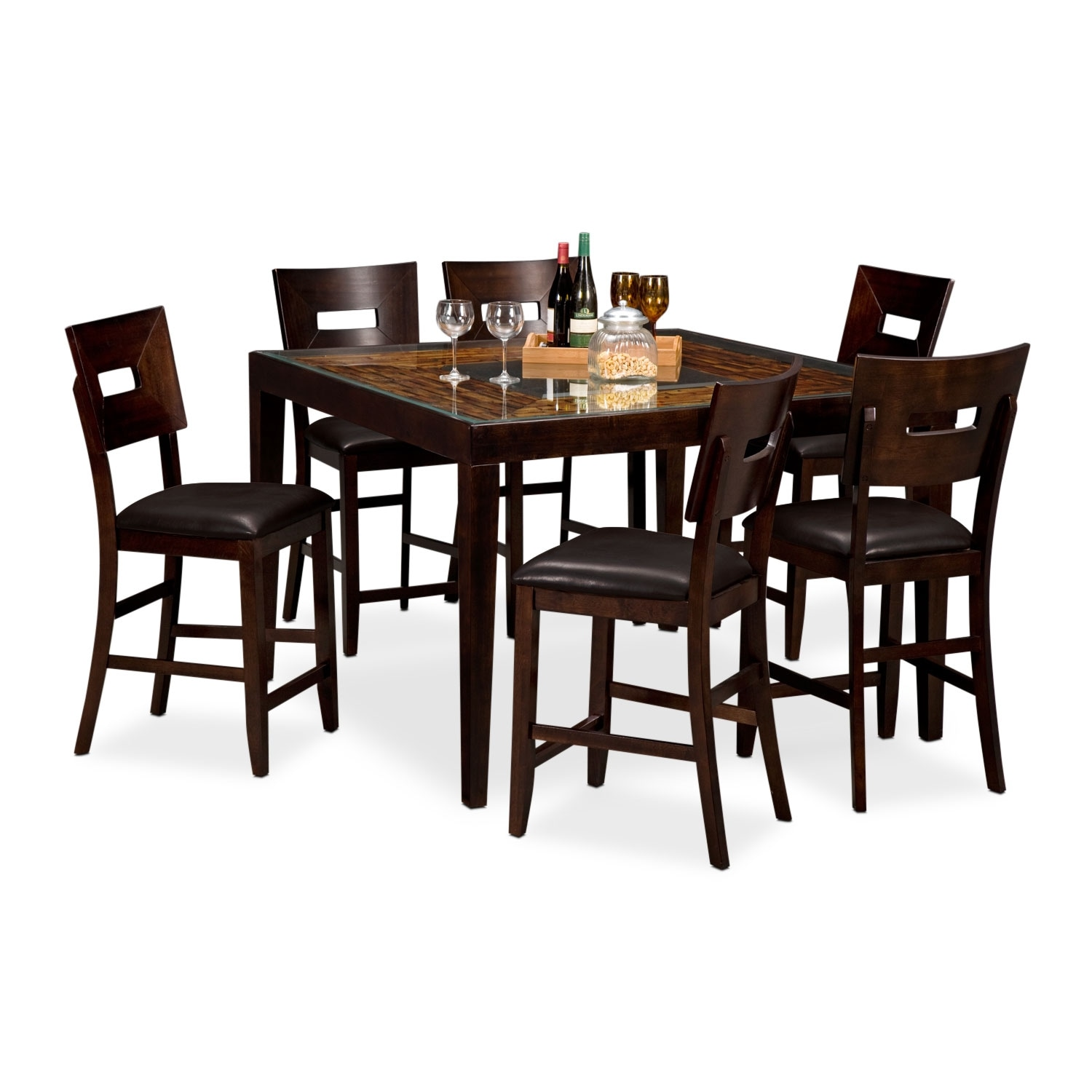 [Cyprus II 7 Pc. Counter-Height Dinette]