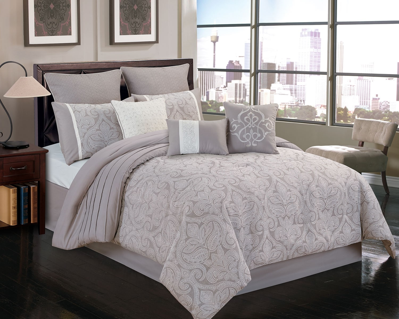 Mattresses and Bedding - Worthington 9-Piece Queen Comforter Set