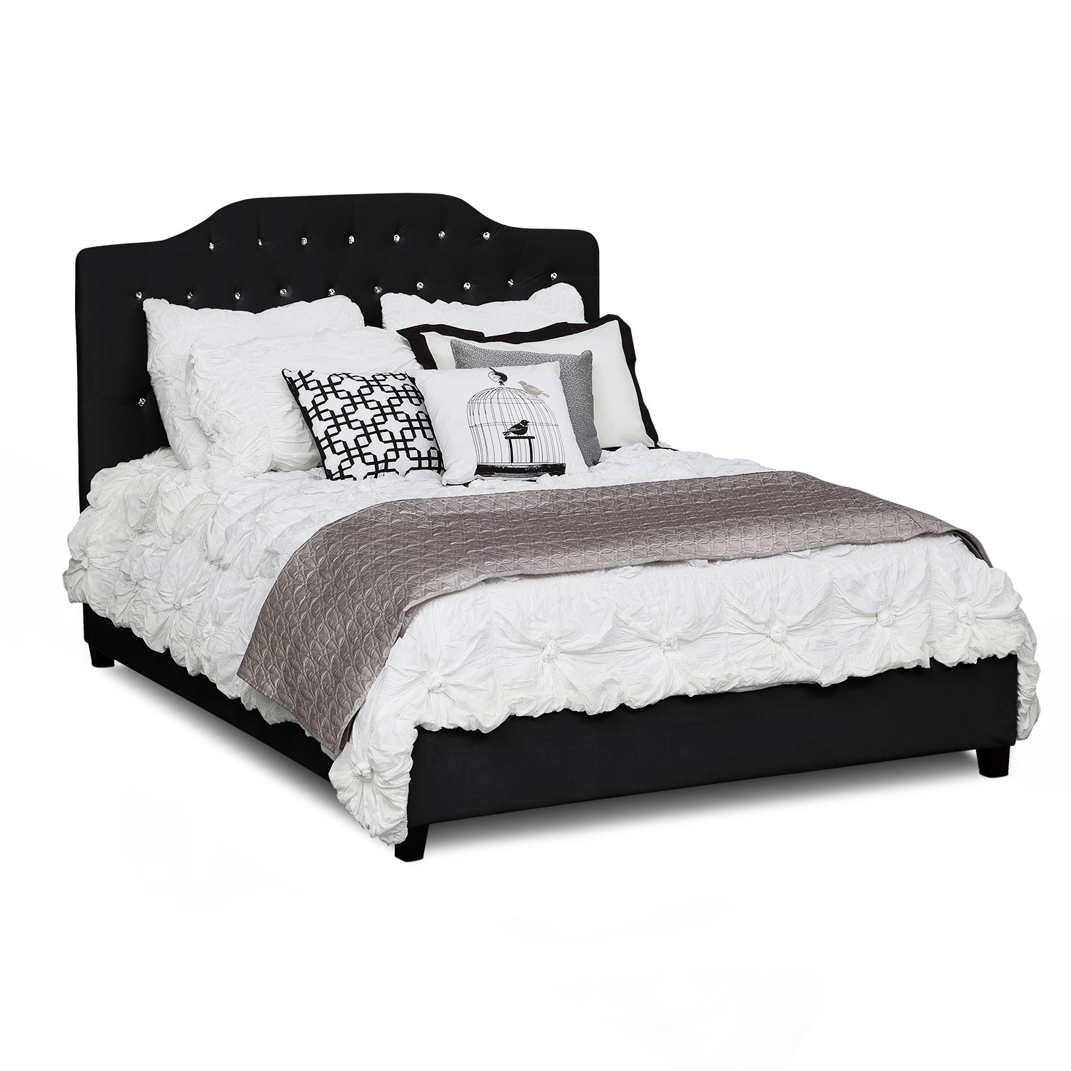 valerie queen bed black