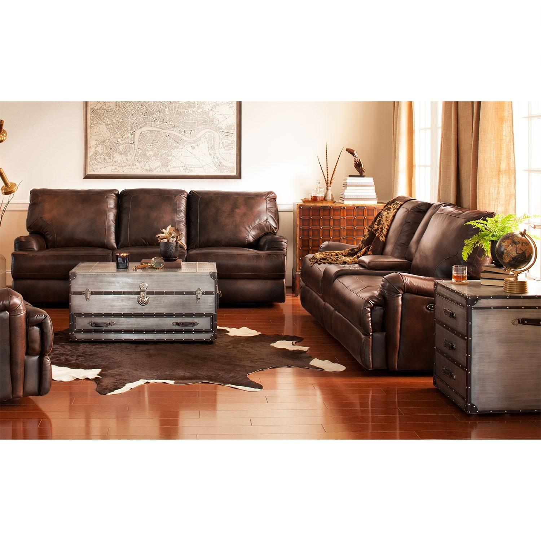 Kingsway Power Reclining Sofa And Reclining Loveseat Set