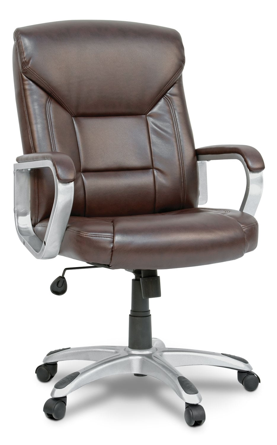 Home Office Furniture - Tucson Deluxe Bonded Leather Executive Chair – Brown