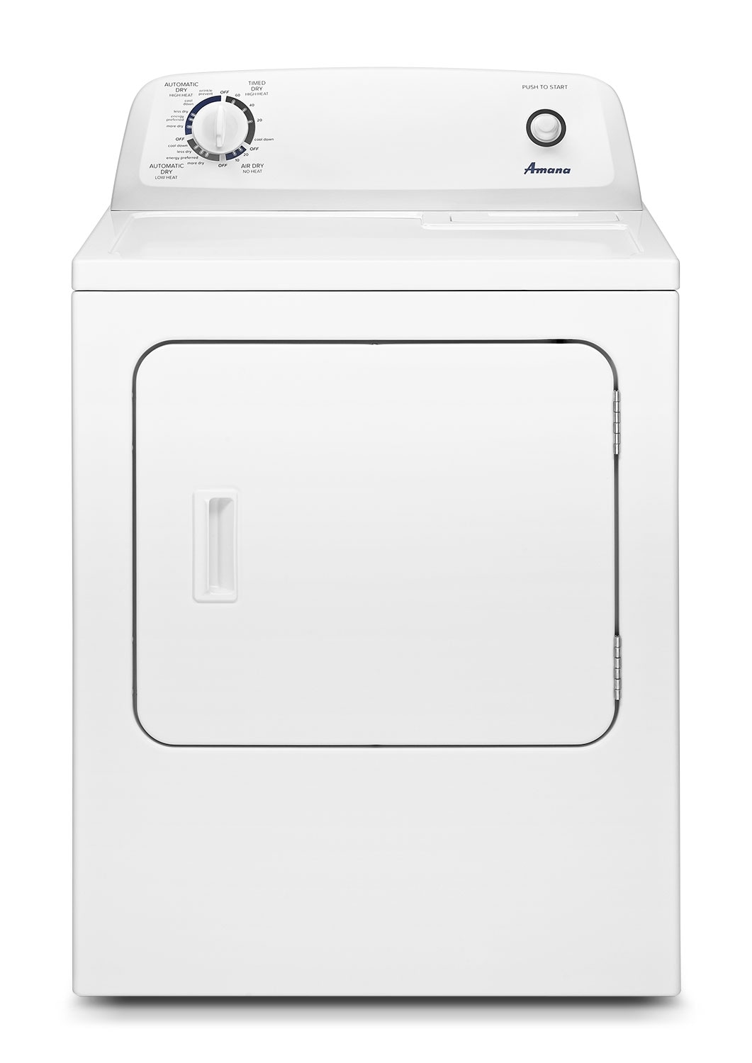 Washers and Dryers - Amana White Electric Dryer (6.5 Cu. Ft.) - YNED4655EW