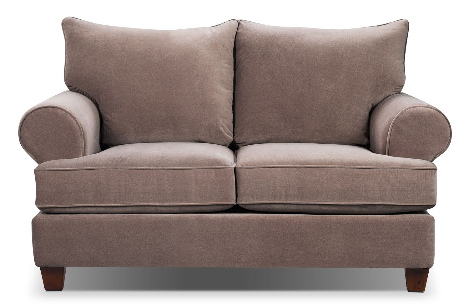 Paige Microsuede Loveseat - Stone
