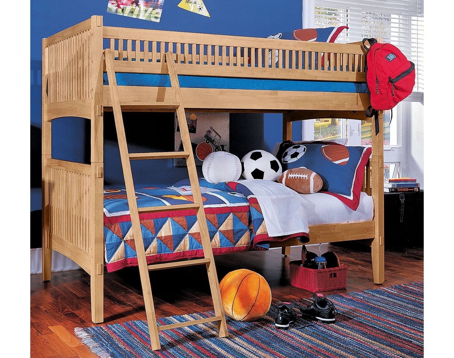 Kids Furniture - The Wentworth III Light Collection - Twin Bunk Bed