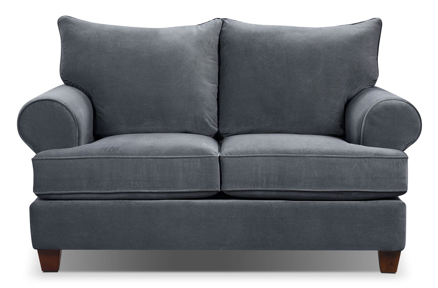 Paige Microsuede Loveseat Grey The Brick