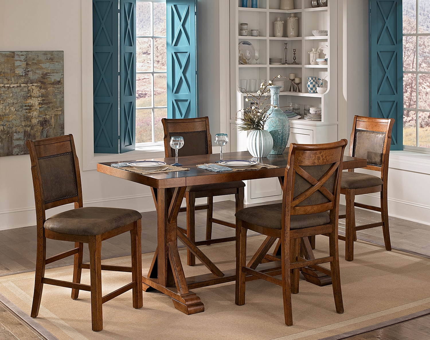 Dining Room Furniture - The Greenfield Walnut Collection - Counter-Height Stool