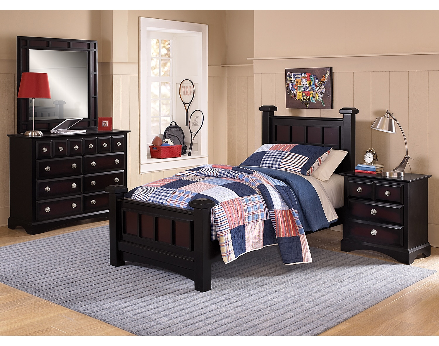 Kids Furniture - The Landon II Collection - Twin Bed