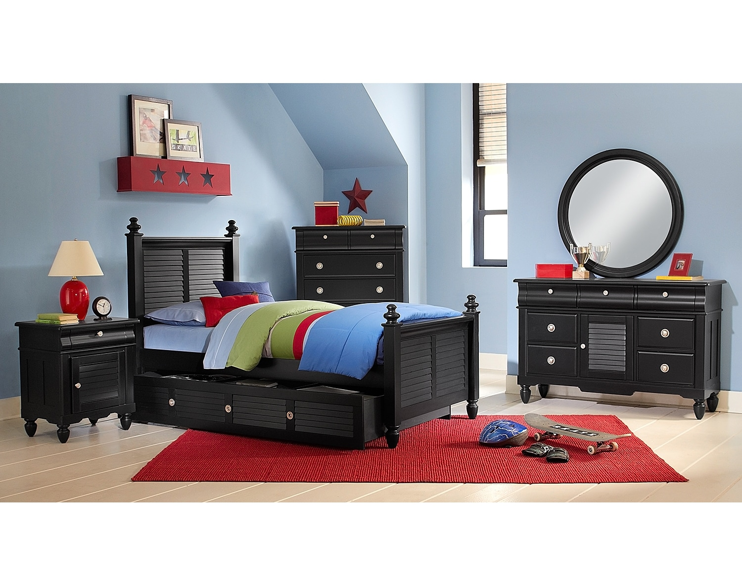 The seaside collection black american signature furniture Seaside collection furniture