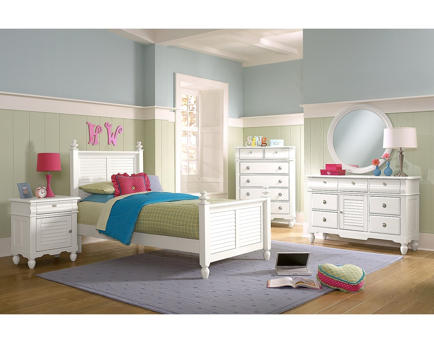 Kids Furniture - The Mayflower White Collection - Twin Bed
