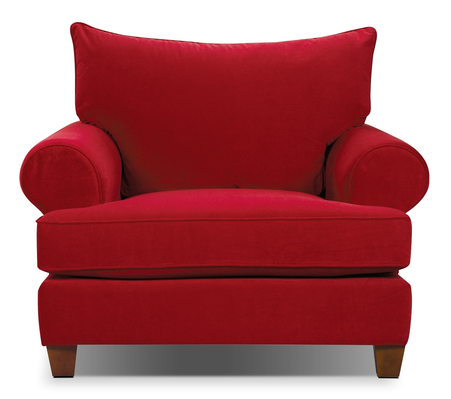 Paige Microsuede Chair - Red