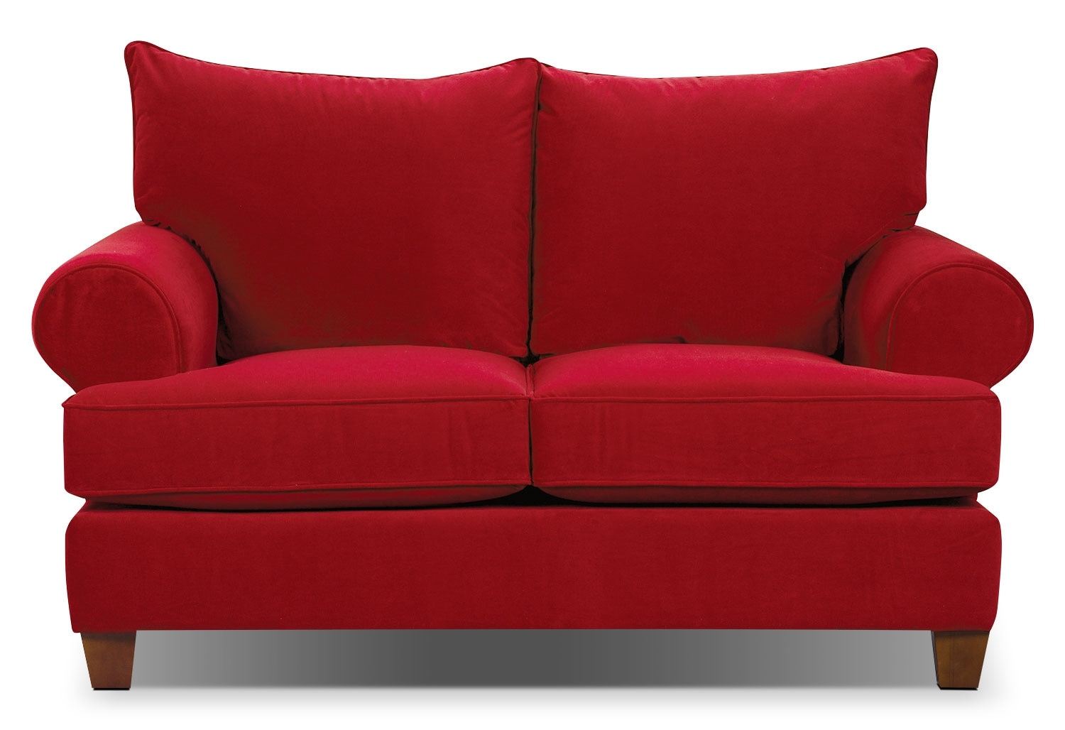 Living Room Furniture - Paige Microsuede Loveseat - Red