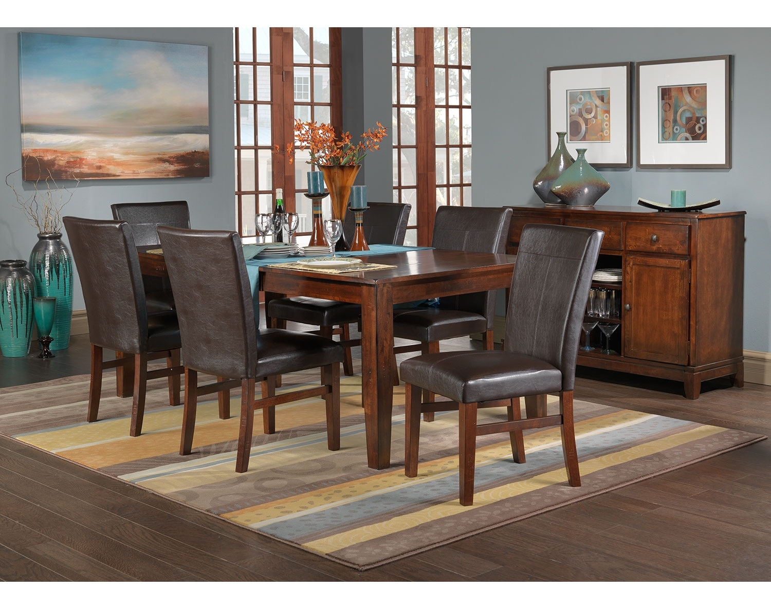 Oak dining room set 28 images oak dining room tables for B m dining room furniture