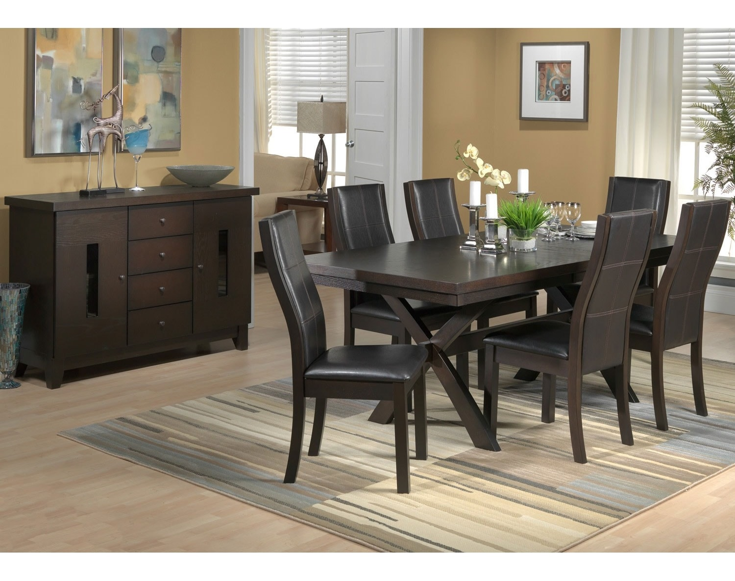 Grethell side chair espresso leon 39 s - Dining room table canada ...