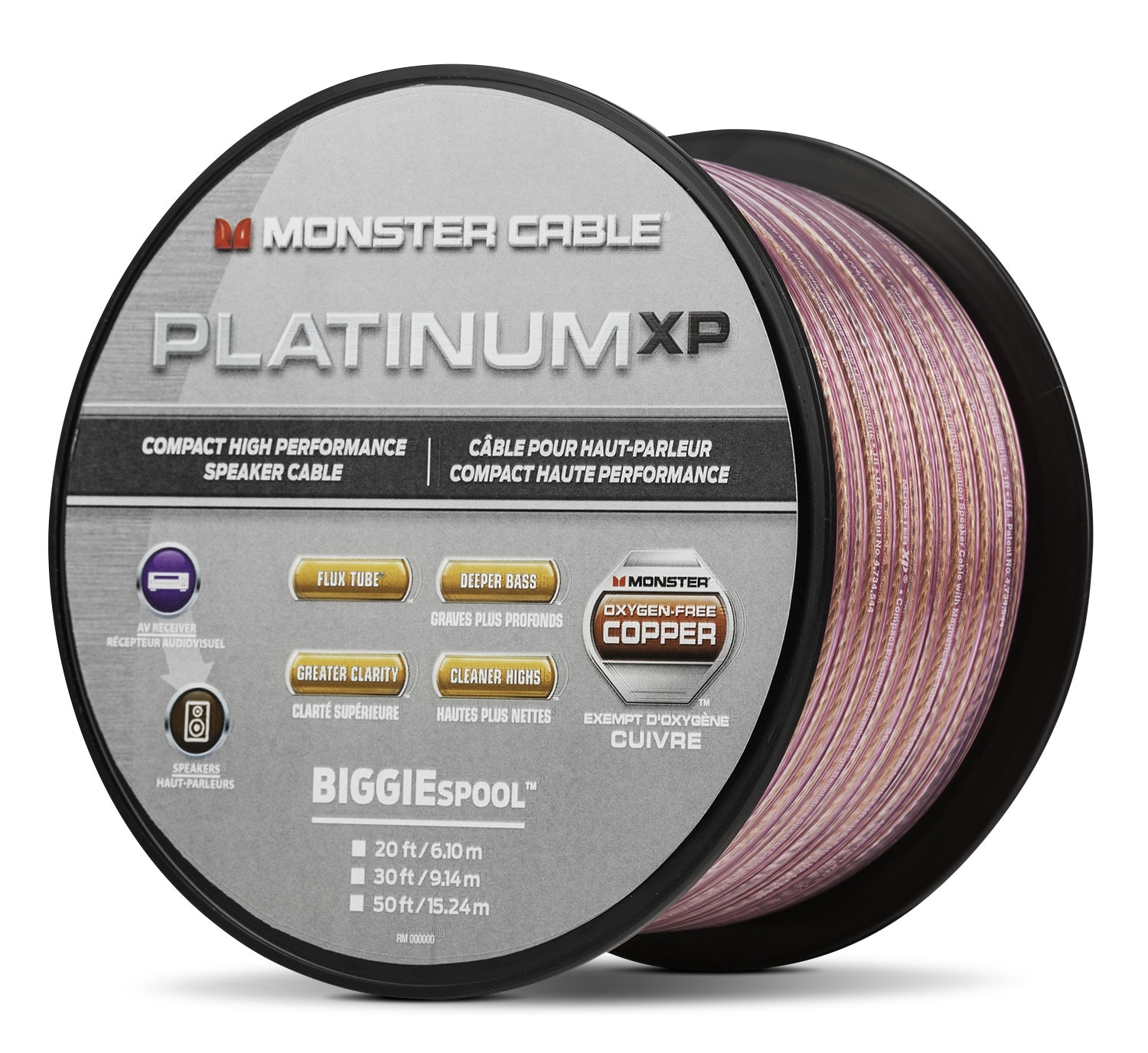 Sound Systems - Monster® Platinum XP® Compact Speaker Cable MKIII - 15.24 m