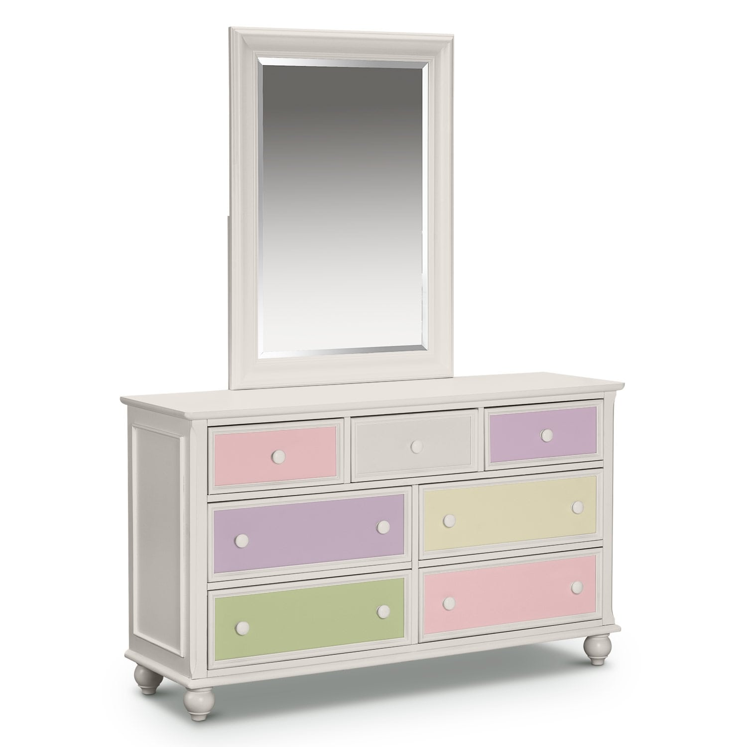 Kids Furniture Colorworks White Dresser Mirror