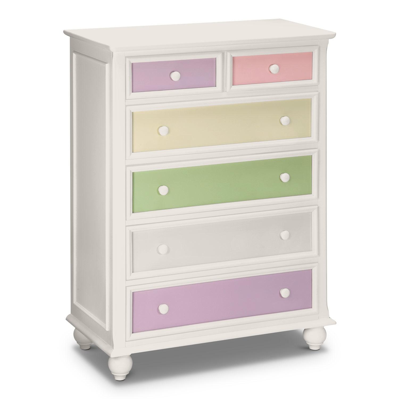 Kids Furniture - Riley White Chest