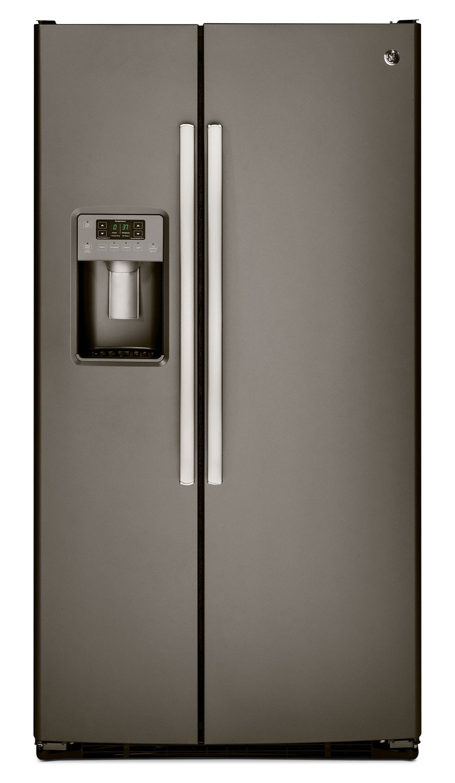 GE 25.4 Cu. Ft. Side-by-Side Refrigerator with Dispenser - Slate