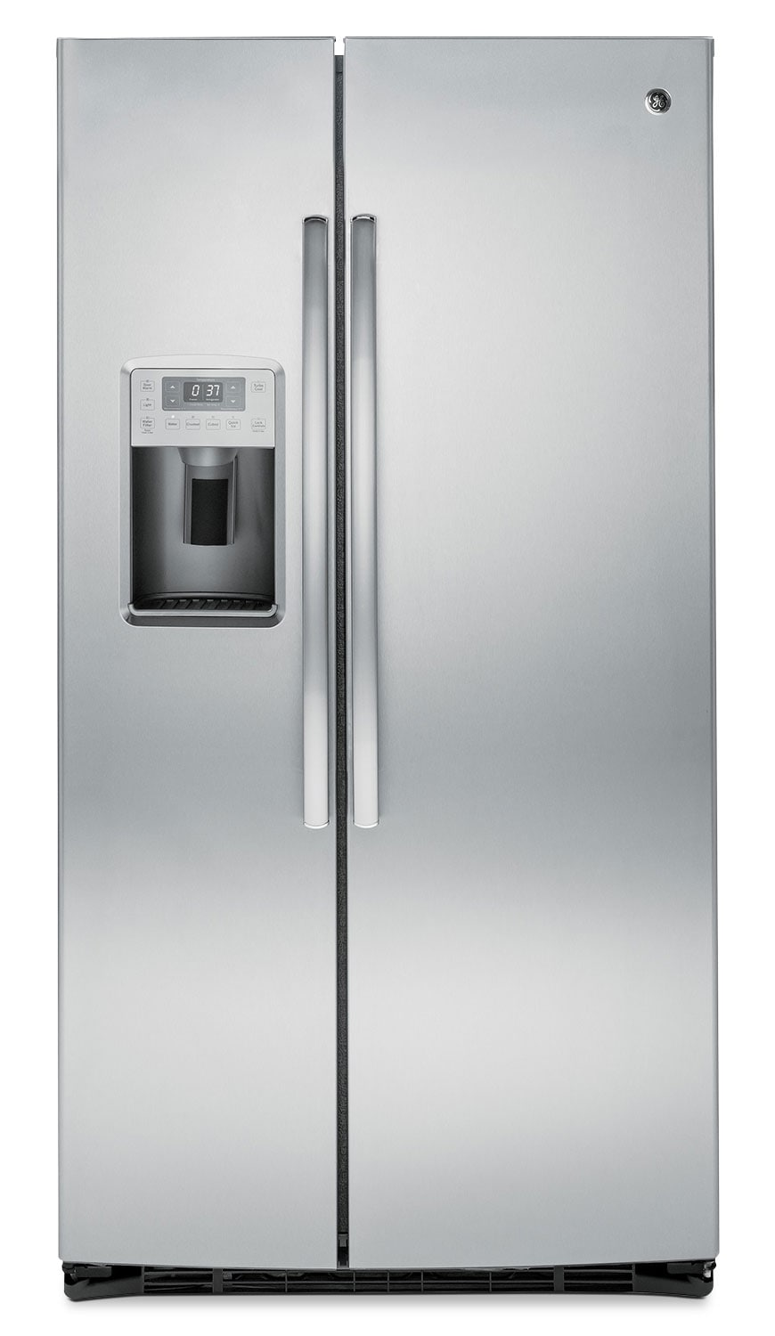 Refrigerators and Freezers - GE 25.4 Cu. Ft. Side-by-Side Refrigerator with Water Dispenser - Grey