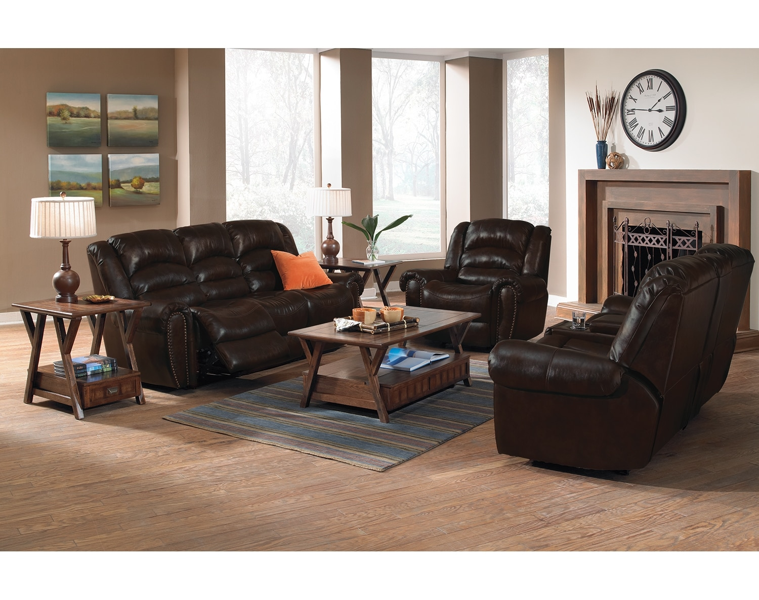 Living Room Furniture - The Collinsville Collection - Reclining Sofa